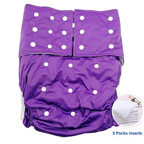 Jolie Diapers Erwachsener Baby Windel Liebhaber (ABDL) Windeln für Erwachsene, Doppelöffnungstasche Super Saugfähigkeit Windeln Inkontinenz Unterwäsche,Purple