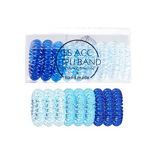 Onlyoily 9 Stück Telefonkabel haargummi elastisch Haarband, Spirale Telefonkabel Anti Spliss Zopfgummi Fitness Haarband Spiral Haargummi für Damen und Mädchen(02)