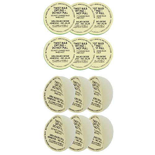 Lickety Split KIT2GSK713XS13 KITGSK713XS13 Adhesive Pad Replacements for Standard and Small Light Bulb Toppers, Multi-Pack, Green