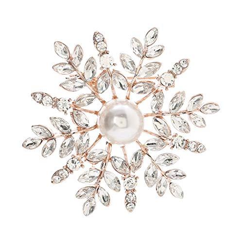 Broche de la Mujer, del Copo de Nieve de Cristal de Moda...