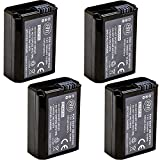BM Premium 4 NP-FW50 Batteries for Sony A6400, DSC-RX10 IV, DSC-RX10 III,...