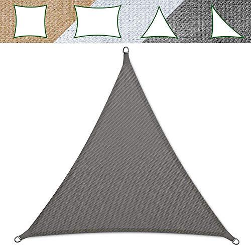 casa pura Voile d'ombrage Triangulaire Balcon, pergola, Jardin | polyéthylène, résistant | Triangle, Anti UV - 5x5x5m, Gris