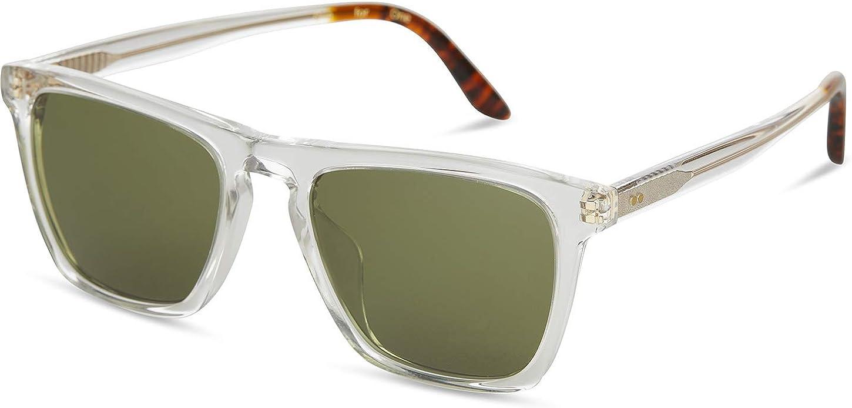 TOMS Dawson Square Sunglasses, Vintage Crystal/Bottle Green, 53-20-151