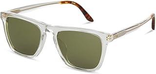 Toms Dawson 10014000 Unisex Vintage Crystal Frame Bottle Green Lens Square Sunglasses