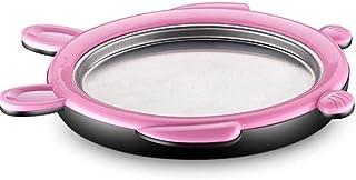 SHYPT Fried Yogurt Machine Household DIY Preparing Ice Cream Rolls with 2 Spatulas (Color : Pink)