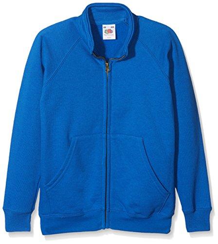 Fruit of the Loom Jungen Classic Sweat Jacket Kids Jacke, Blau (Royal Blue 300), Herstellergröße: 116 (5-6)