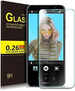 شاشة حماية بريميوم من الزجاج المقوى لموبايل هواوي Y3 2018، شفاف