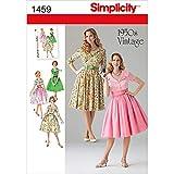 Simplicity Schnittmuster 1459 Vintage Fashion 1950er Jahre Damen Kleid, Größen 44-52