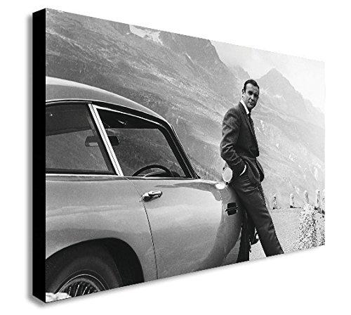 Leinwanddruck James Bond, Aston Martin, Sean Connery, verschiedene Größen, holz, weiß, A1 32x24 inches