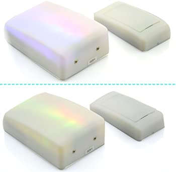 Anpress 7 Color Lights Flash + Music Doorbell, Wireless Doorbell, The Deaf/Hard of Hearing Favorite, Music Can Be Cha...