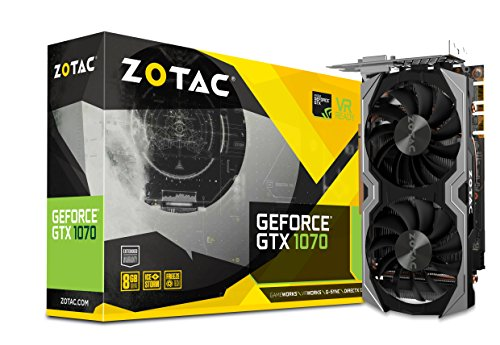 ZOTAC GeForce GTX 1070 Mini 8GB GDDR5 VR Ready Super Compact Gaming Graphics Card...