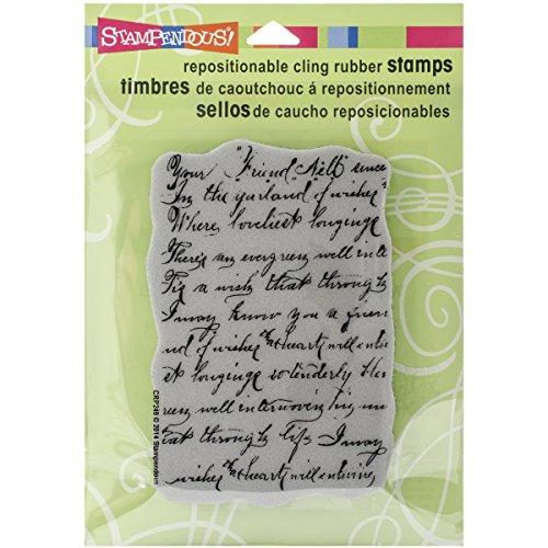Stampendous Gummi selbst Stempel 12x 11,4, Vintage Note