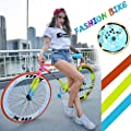 """Fixed Gear Bike - 26"""" Lightweight Mini Bike Stylish Student Bicycle Rainbow Color Matching Bikes for Women with Quick Release Buckle - Gifts for Back to School Gifts for Teens"""