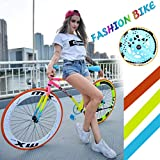 Fixed Gear Bike - 26' Lightweight Mini Bike Stylish Student...