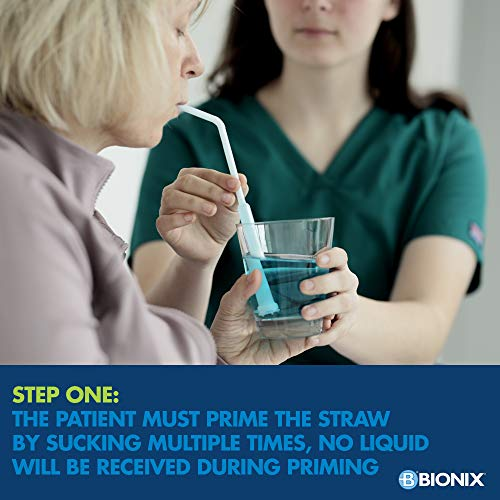 Bionix Health at Home Safestraw Drinking Aid for Thin Liquids, White