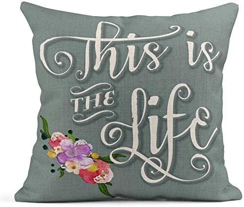 Running-sun Fundas de almohada de poliéster para decoración del hogar, funda de almohada cuadrada de 45,7 x 45,7 cm, I Love You a Bushel and a Peck Holidays