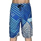 Shorts d'été pour Hommes Maillots de Bain décontractés Surf Beach Shorts Shorts de Planche à séchage Rapide Décontractés avec Ceinture élastique 36