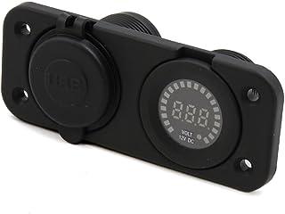 Generic Car Halo Dual USB Charger + Green Indication Voltage Voltmeter Digital 12V