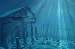Aquatic Creations Static Cling Aquarium Background 36 by 18-Inch Ruins
