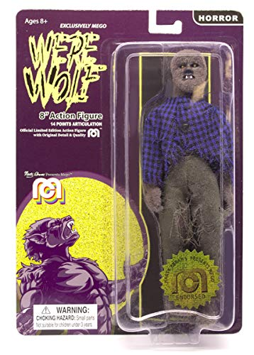 """Mego Action Figures, 8"""" New Mego Werewolf - Full Body Flock (Limited Edition Collector's Item)"""