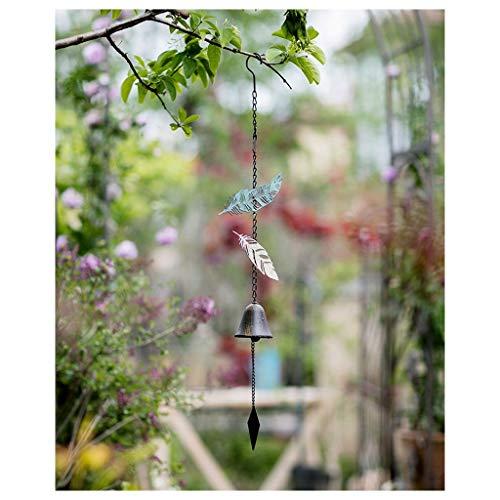 MJIA Regalo Timbre Campana de la Vendimia Bendición Feng Shui Viento for el hogar Decoración Jardín Colgante