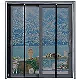 [Upgraded Version] Magnetic Screen Door 74'x81', Homitt Durable Fiberglass Mesh Curtain, Auto Closer for Sliding Doors