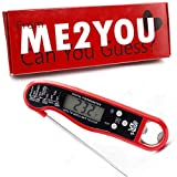 Vulter | Gift Box Digital Instant Read BBQ Food Thermometer | Unique Christmas, Halloween, Birthday, Gifts for Mom, Men, Woman who has Everything | Red