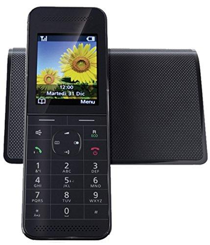 Telecom Italia Facile Lusso Telefono Cordless DECT, Wi-Fi, Nero