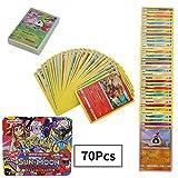 70Pcs Jeu de Cartes Pokemon Cartes, Carte de Pokemon Amusant pour Enfants, Cartes à Collectionner, Sun & Moon...