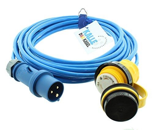 Preisvergleich Produktbild Land-Anschluss-Kabel Polyurethan mit CEE-Stecker / Marinco-Kupplung 2, 5 mm² 25 m von KALLE DAS KABEL