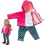 American Girls Doll Ropa - Ropa de Abrigo Muñecas Accesorios para American Girl 18 Pulgadas Tops Chaleco Pantalones Ropa de Muñecas Verano 2019 Doll Ropa Set, Sencillo Vida