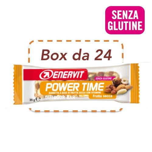 Enervit Power Time Confezione da 24 Barrette Gusto Frutta Secca