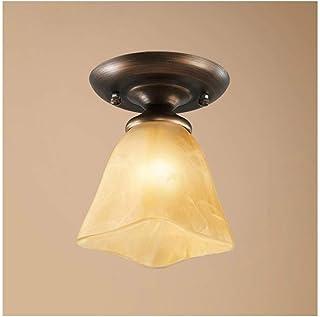 ضوء السقف الأوروبية الحديد المطاوع مصابيح السقف الزجاج ، E27 111V ~ 240V، غرفة نوم Cloakroom غرفة الدراسة Decoration Decor...