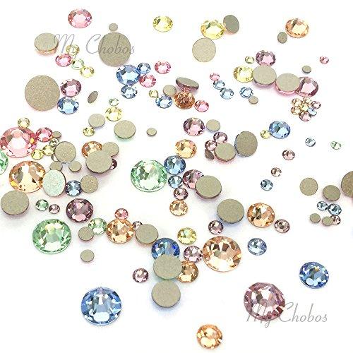 BABY Colors mixed with Swarovski 2058 Xilion / 2088 Xirius Rose flatbacks sizes ss5, ss7, ss9, ss12, ss16, ss20, ss30 No-Hotfix rhinestones nail art 144 pcs (1 gross) from Mychobos (Crystal-Wholesale)