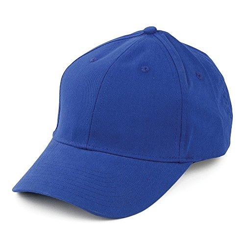Village Hats Casquette en Coton Brossé Bleu Roi - Ajustable
