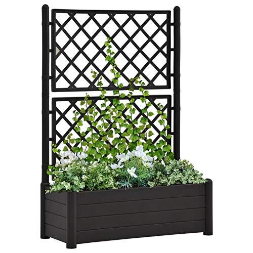 Galapara Outdoor Blumenkasten mit Spalier, Pflanzkübel Pflanzkasten mit Spalier für Garten, Terrasse und Balkon 100x43x142 cm
