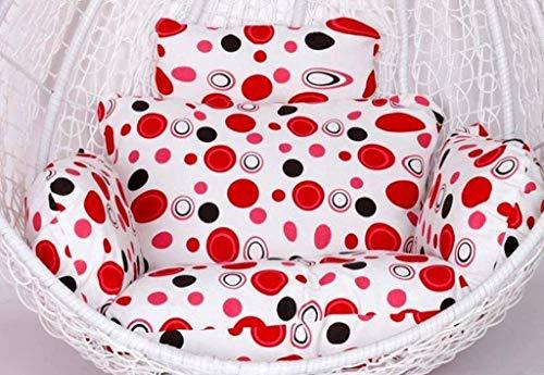 DZX Cojines para Silla de Hamaca 100% algodón Acolchado para Colgar el Asiento de ratán Cojines de Asiento de Tejido con Almohada para el jardín, Patio, Silla de Columpio de ratán (Color: H) (Excluye