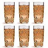 Libbey Bicchiere da Long Drink Atik - 360 ml/36 cl - set di 6 pezzi - design vintage - lavabile in lavastoviglie - alta qualità