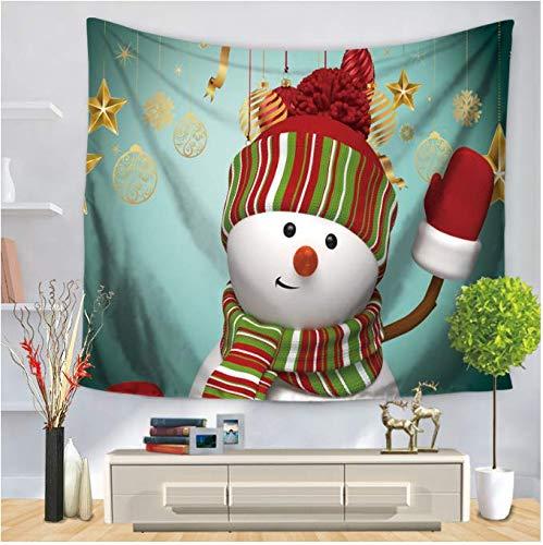 Wandteppich Mandala Teppich Schneemann Wandteppich Wandteppich Deko Wanddeko Yogamatte Tischdecke 150 x 200 cm