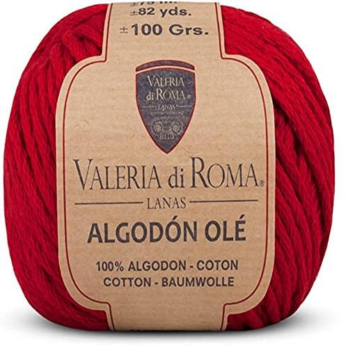 Valeria di Roma Ole Ovillo de Color Rojo Cod.048