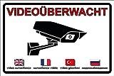Videoüberwachung | Videoüberwacht | Achtung Video | Aufkleber | Schild | Warnung Video | Hinweis Video (Aufkleber, 15 x 10cm)