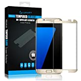 LUVVITT Tempered Glass Screen Protector (Case Friendly) for Galaxy S7 Edge - Gold