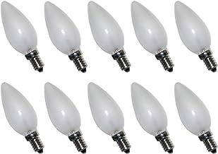 10 x gloeilamp kaars 15W E14 mat gloeilamp 15 Watt gloeilampen extra warm wit dimbaar
