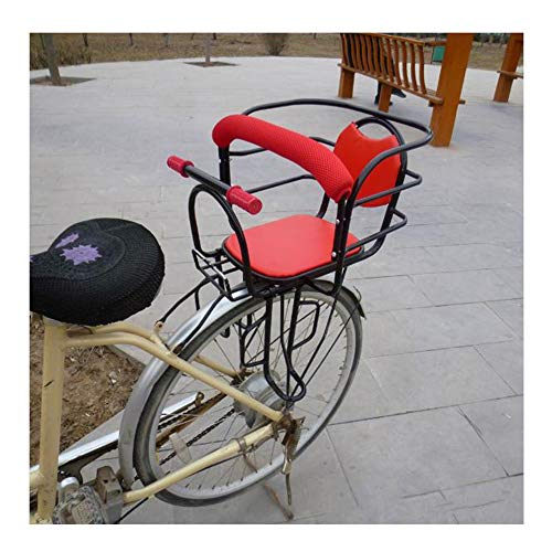 CHENG Ciclismo Seggiolini per Bambini Bicicletta Doppio bracciolo Seggiolino Auto elettrica Sedile Posteriore Ispessimento Sedile,Red,50 * 38cm