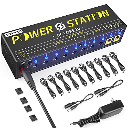Sovvid Guitar Pedal Power Supply - Pedal Board Power Supply 10 Isolated DC Output for...