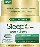 Best Sleeping Pills - Stress Support Melatonin by Nature's Bounty, Sleep3 Maximum Review