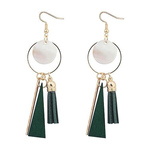 le plus en vogue recherche de véritables top design Boucles d'oreilles Fantaisie Vertes: Amazon.fr