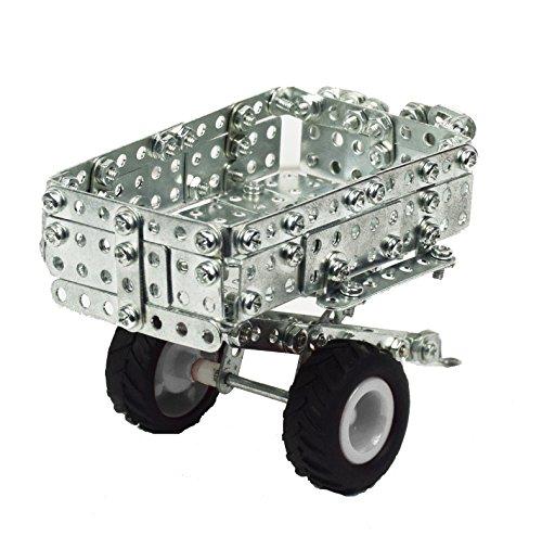 RC Auto kaufen Traktor Bild 4: Tronico 09501 - Metallbaukasten Traktor Claas Axion 850 mit Kippanhänger und Fernsteuerung, Maßstab 1:64, Micro Serie, grün, 462 Teile*