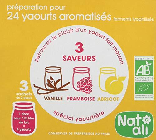 Nat-Ali - Bio - Ferments Yaourts Aromatises 36 g (6 doses de 6g)