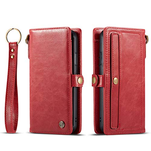 %17 OFF! RuiJinHao iPhone XR Flip Case Leather Cover Kickstand Wallet case Card Holders Extra-Shockp...